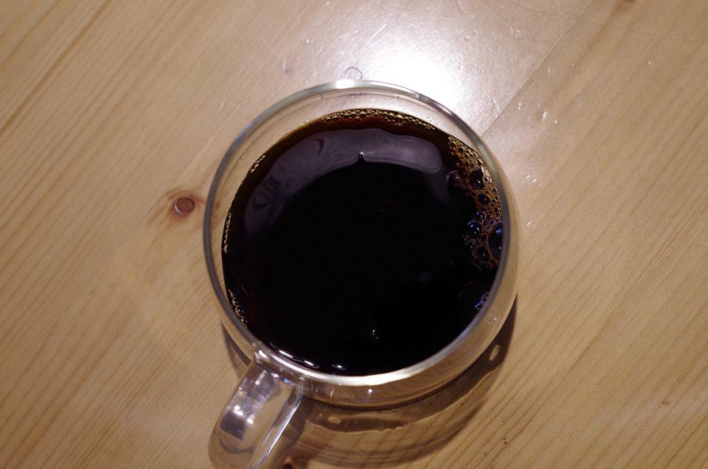 普通に入れたコーヒー