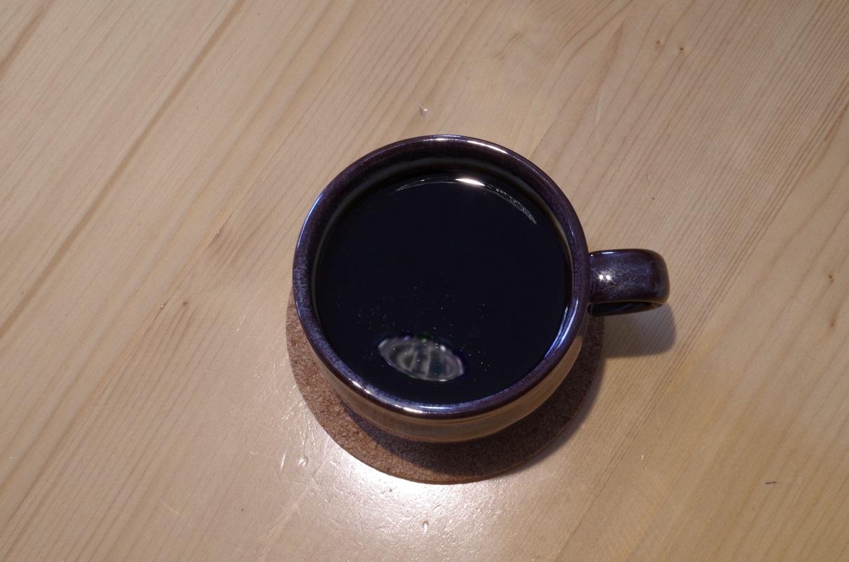 金属フィルターで入れたコーヒー
