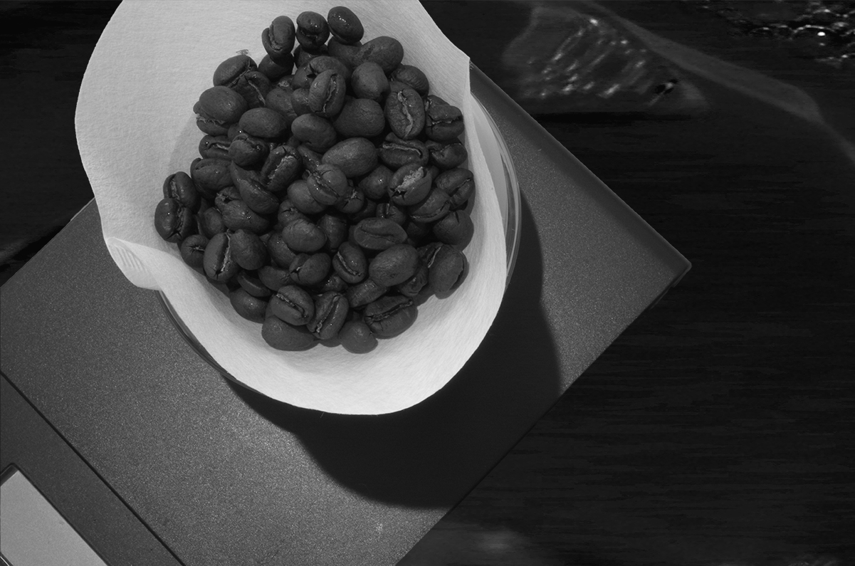 色あせたコーヒー豆