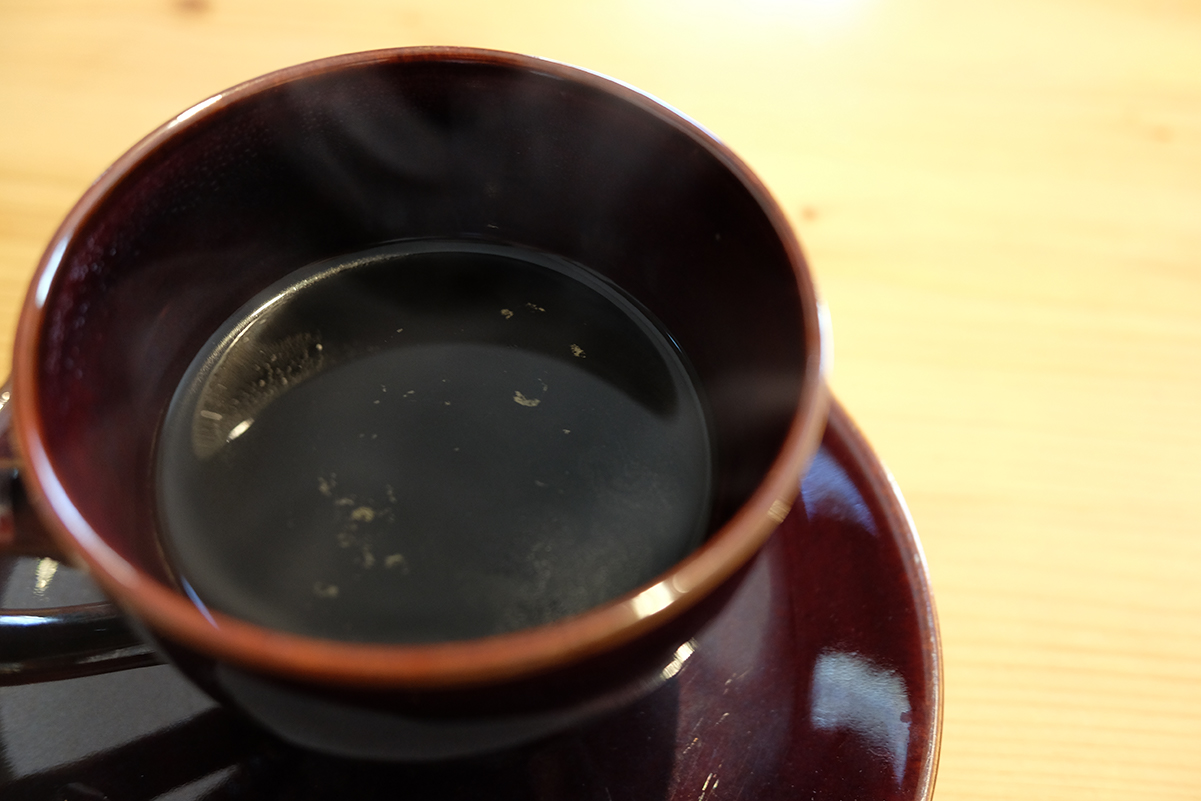 エアロプレスで入れたコーヒー