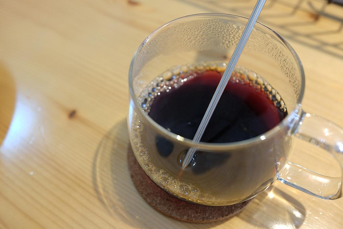 ガラス製のコーヒーカップの保温性