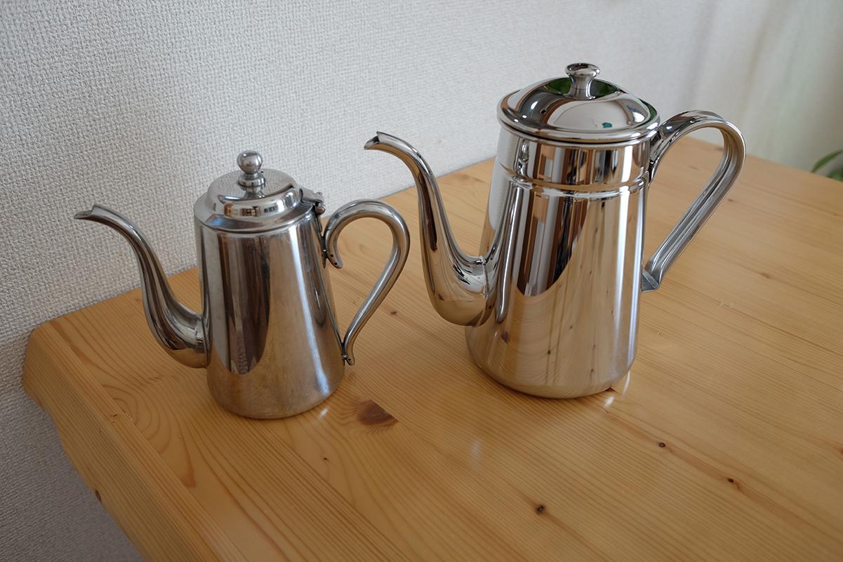 カリタステンレスコーヒーポットの比較その1