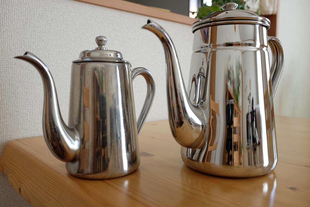 カリタステンレスコーヒーポットの比較その2