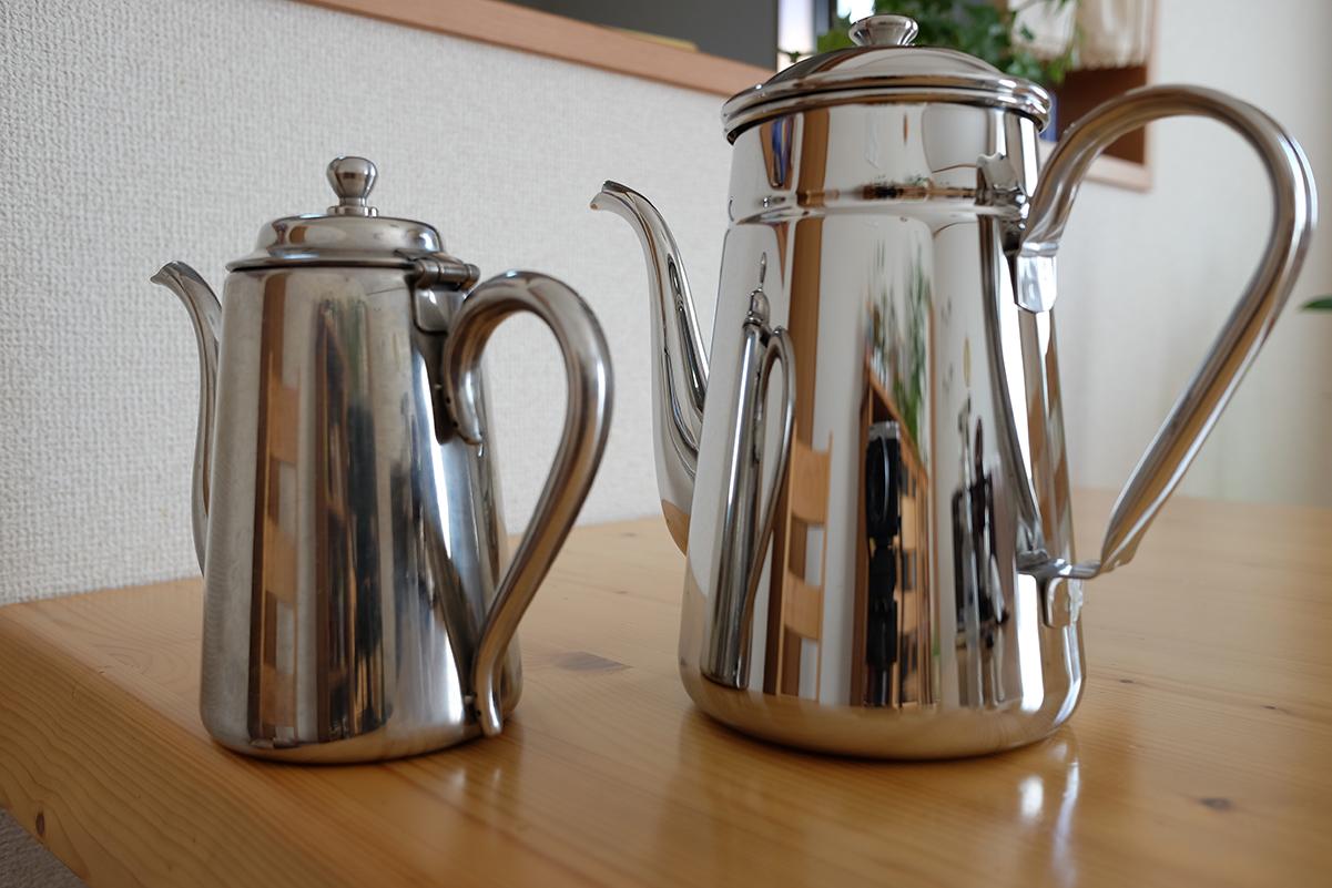 カリタステンレスコーヒーポットの比較その3