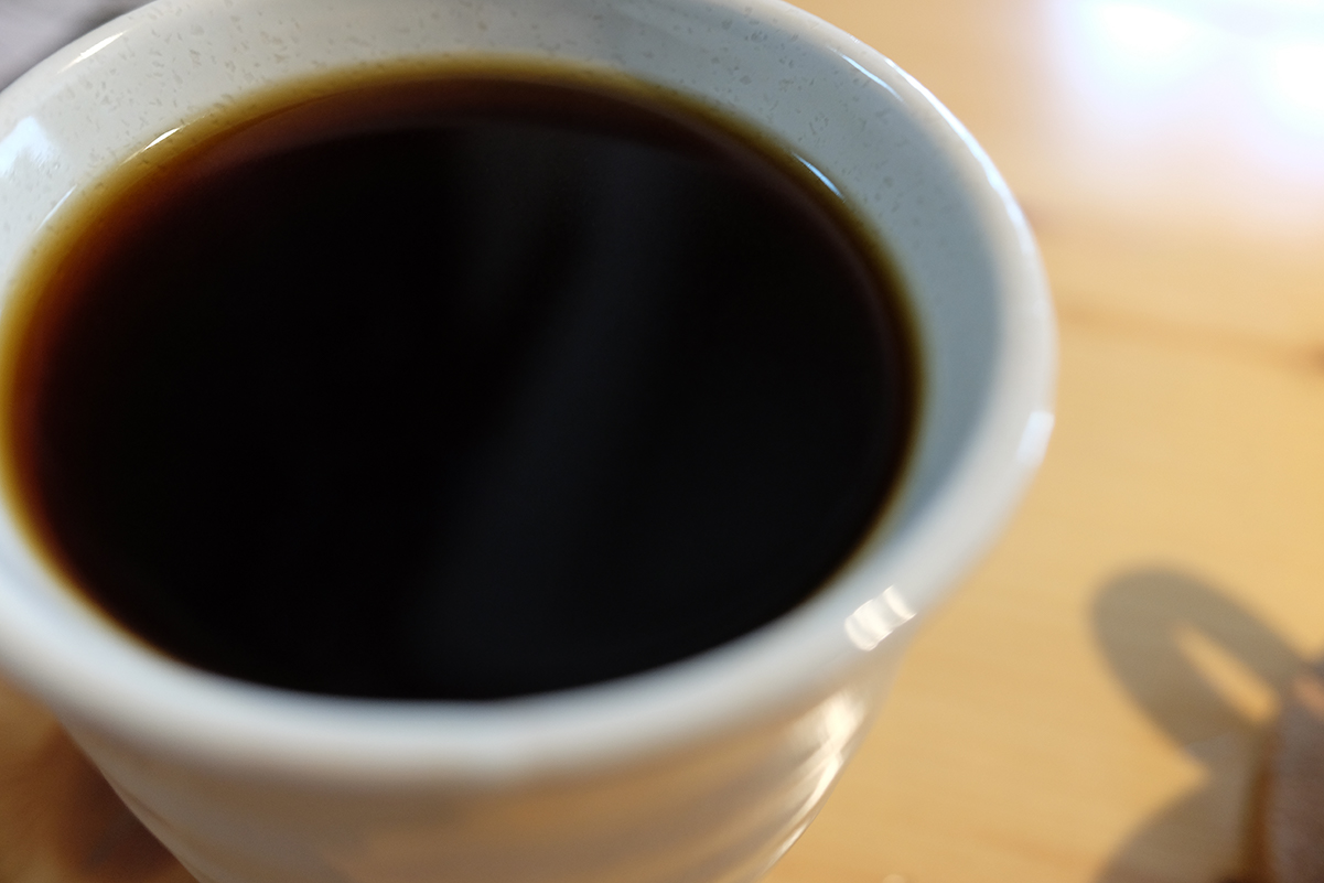 エアロプレスで淹れたコーヒー