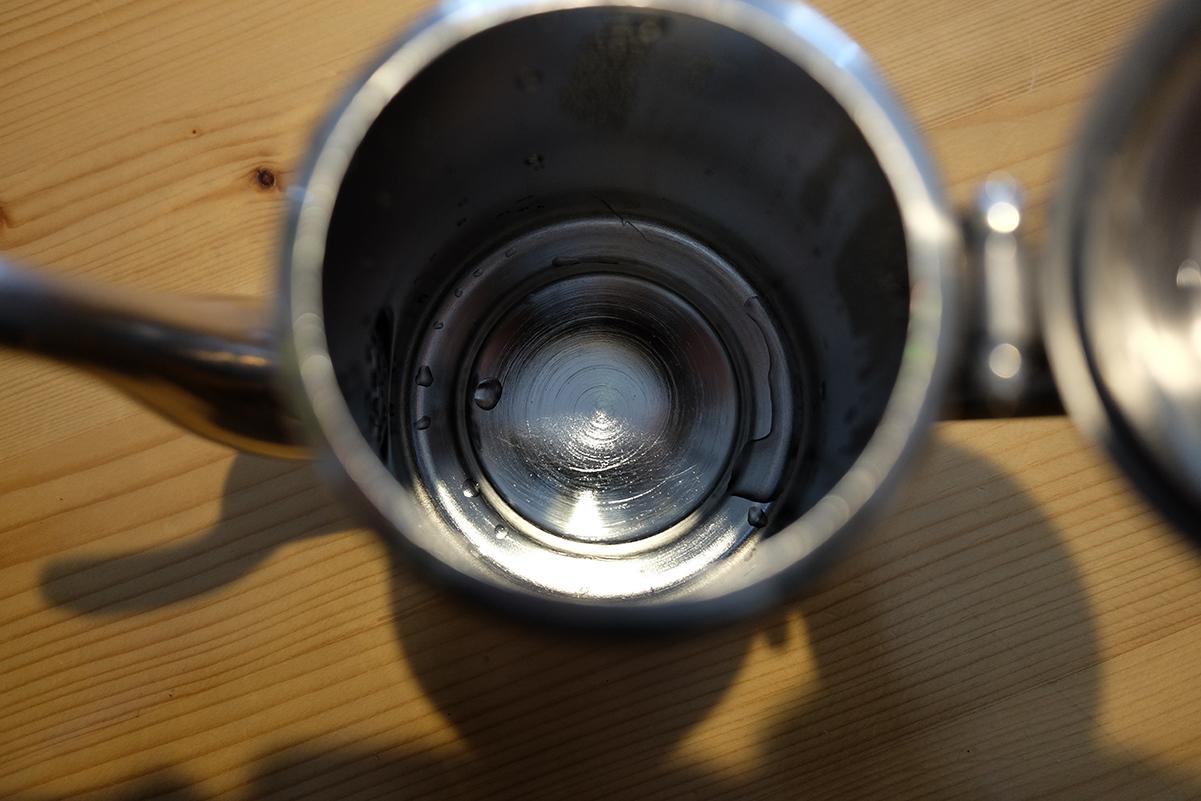 空のコーヒーポット