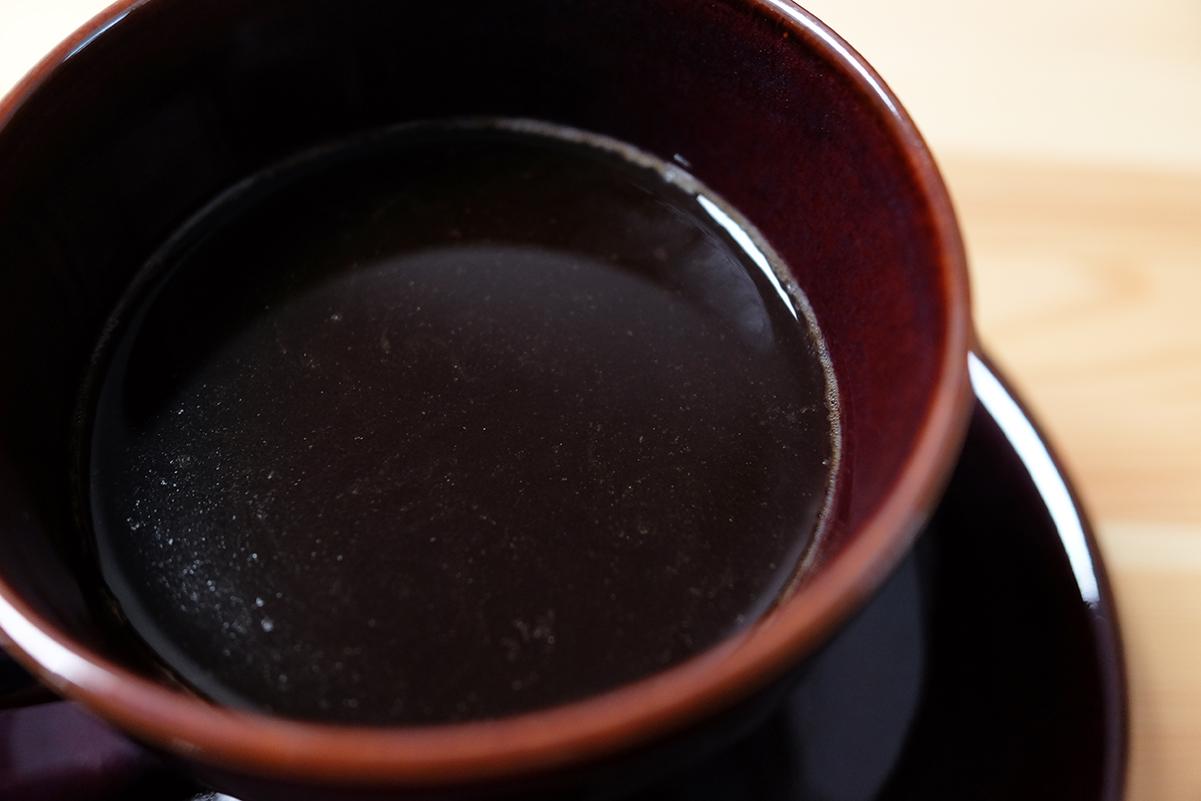 微粉を多く含んだコーヒー