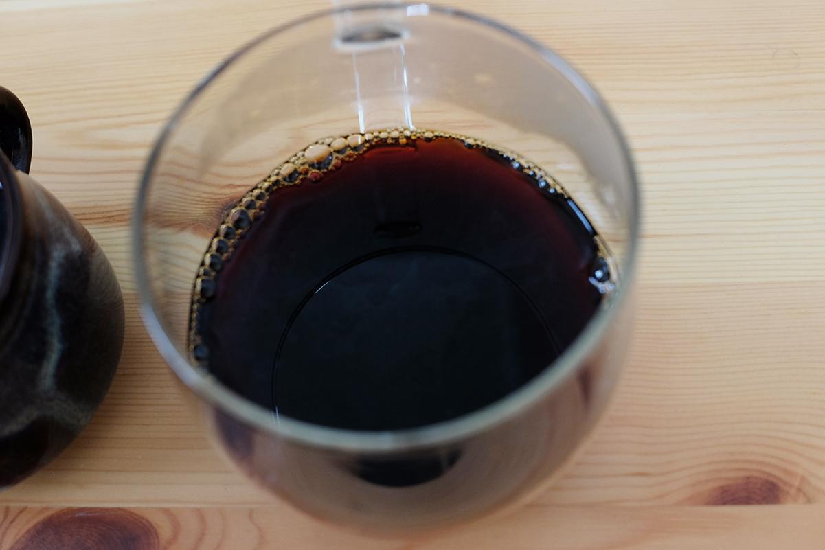 粉で冷蔵保存したコーヒー