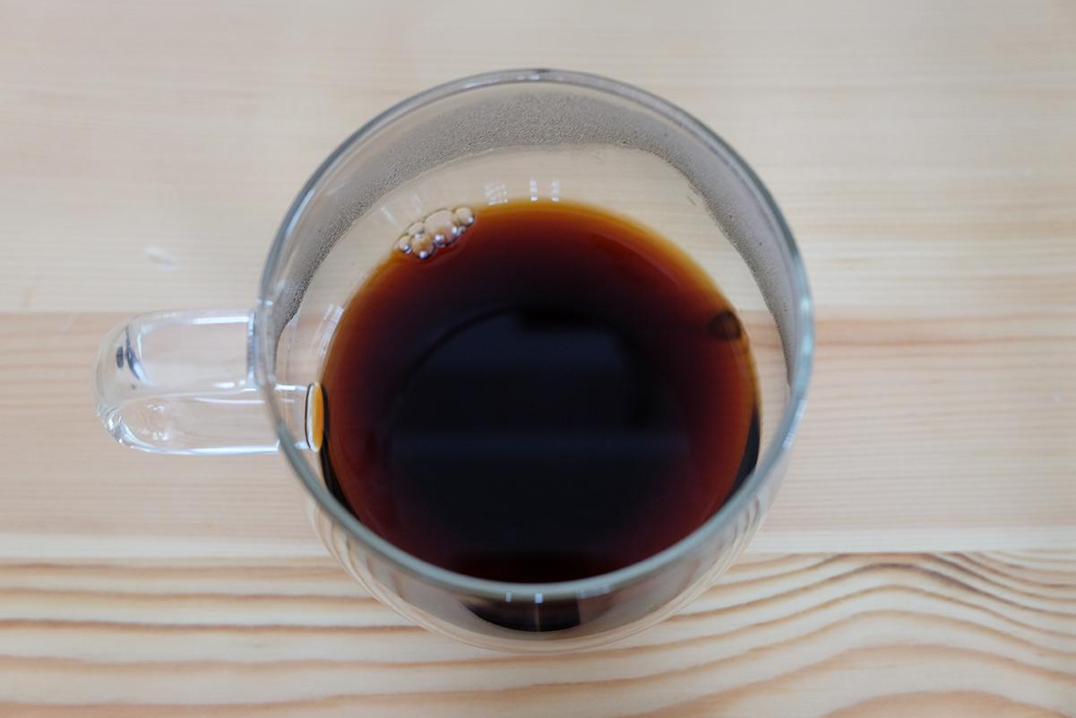 冷蔵庫で豆の状態で保存したコーヒー豆で抽出したコーヒー