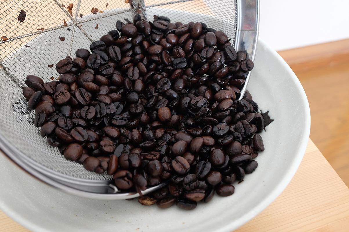 煎りすぎたコーヒー豆