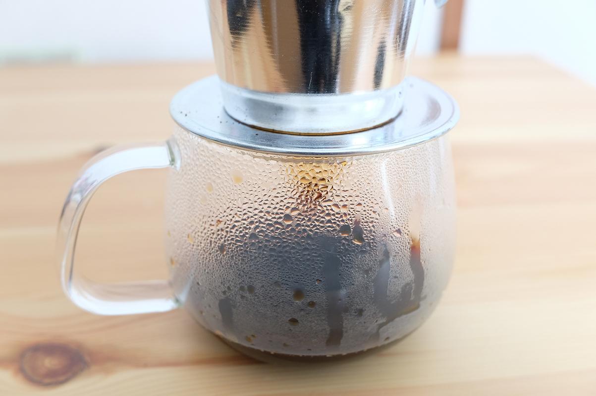 リスコーヒー 抽出中