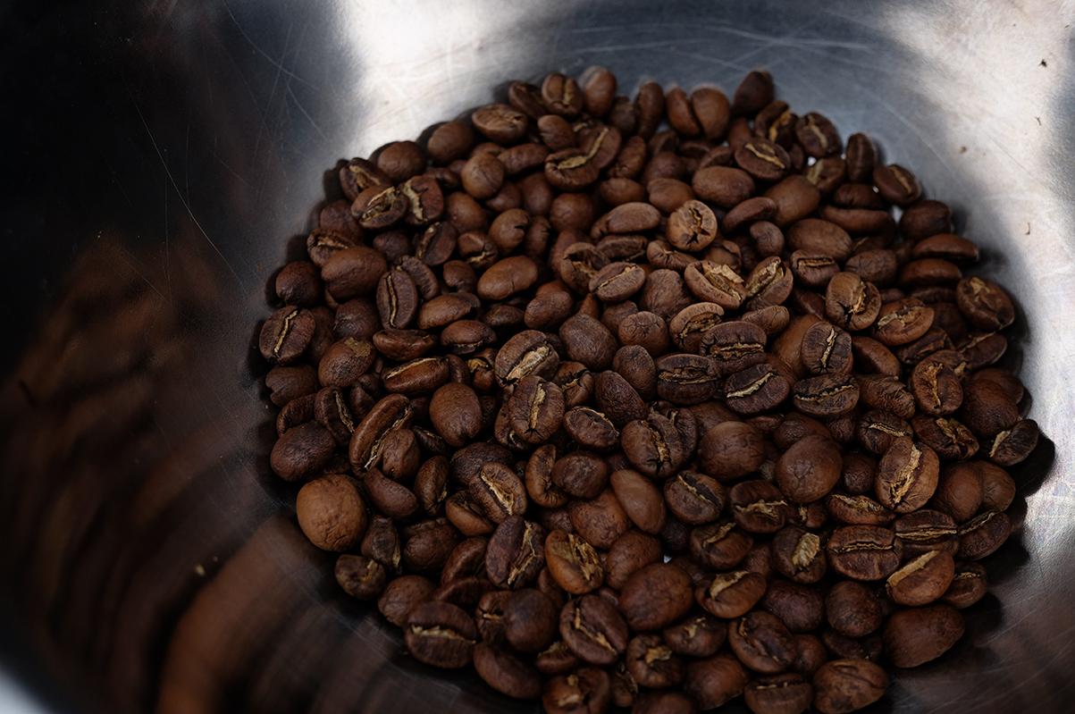 ケニア コーヒー豆 焙煎直後