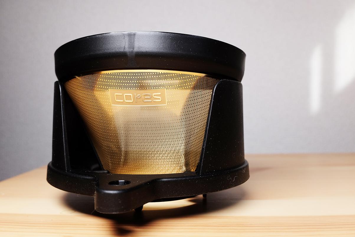 cores ゴールドフィルター ホルダーにセットしたゴールドフィルター