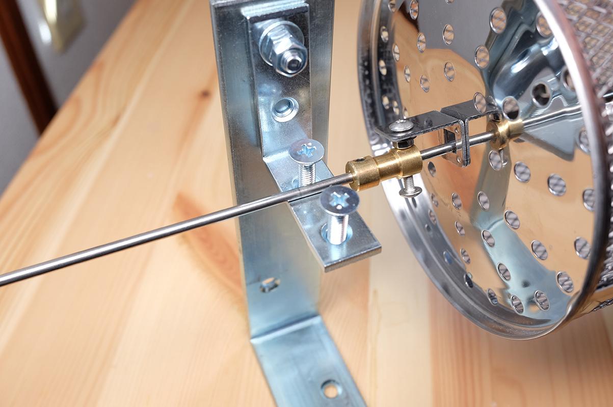 コーヒー豆焙煎機の接続部分2