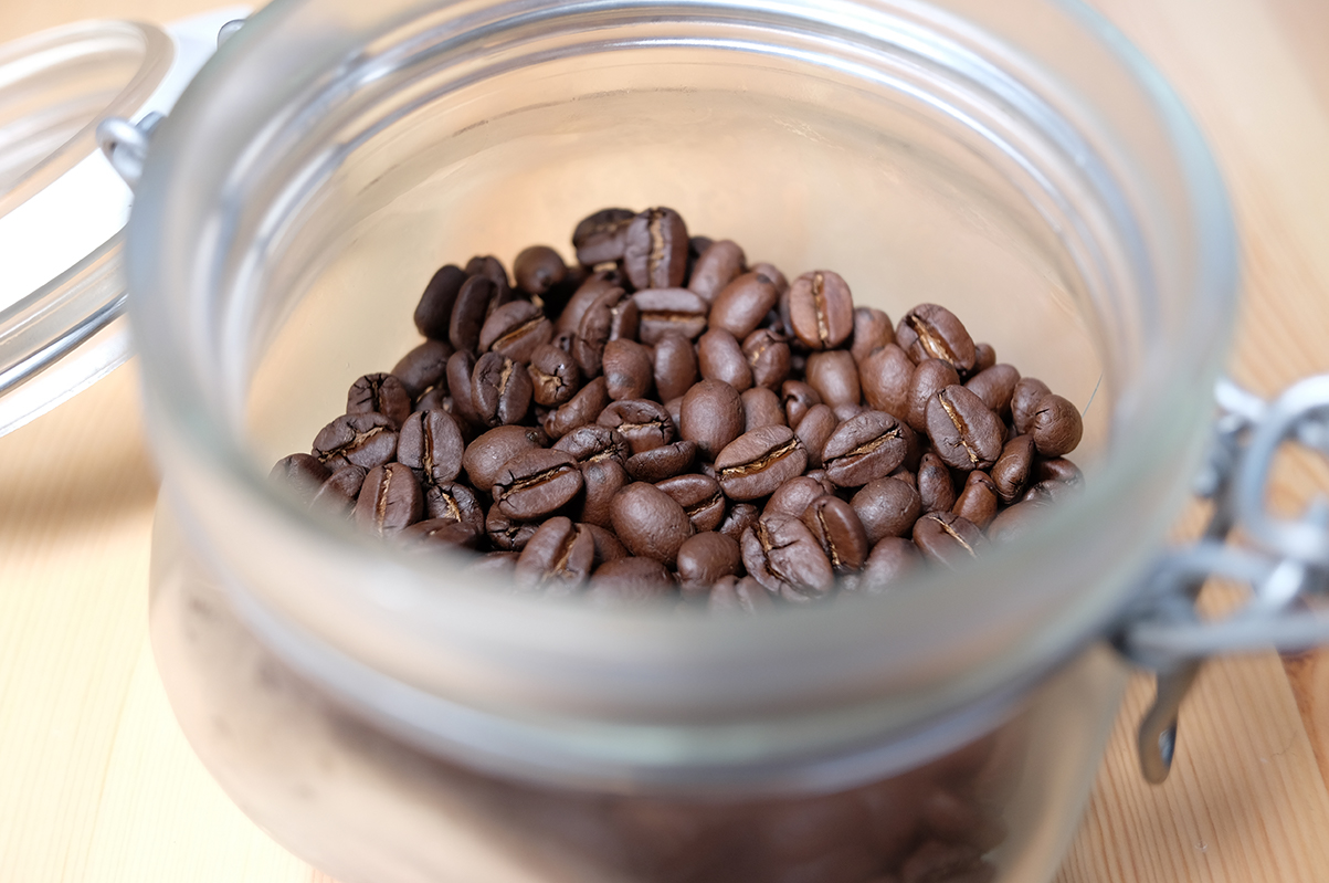 冷蔵で保存したコーヒー豆