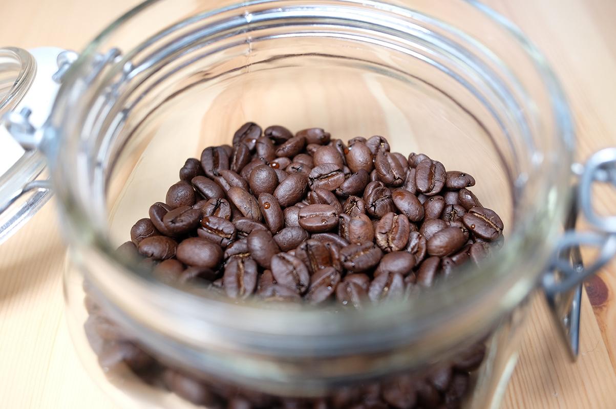 常温で保存したコーヒー豆