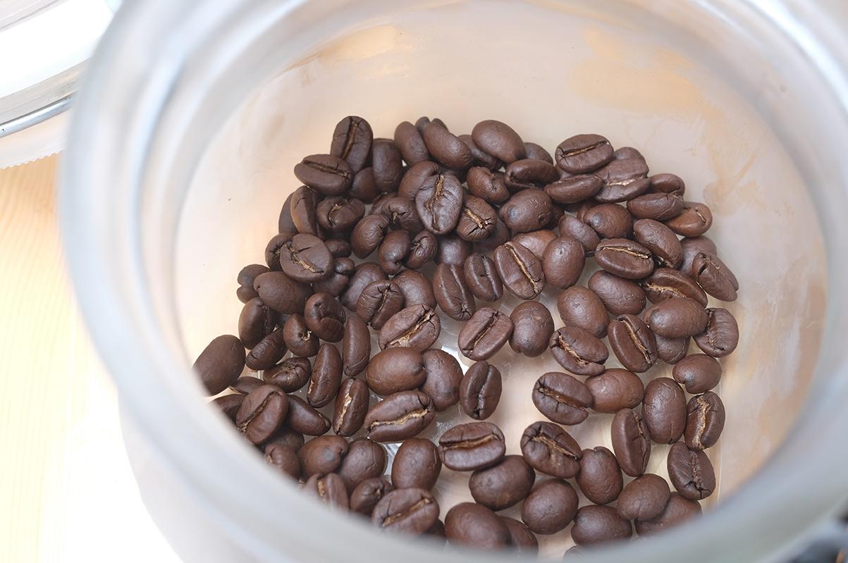 冷凍庫で保存したコーヒー豆