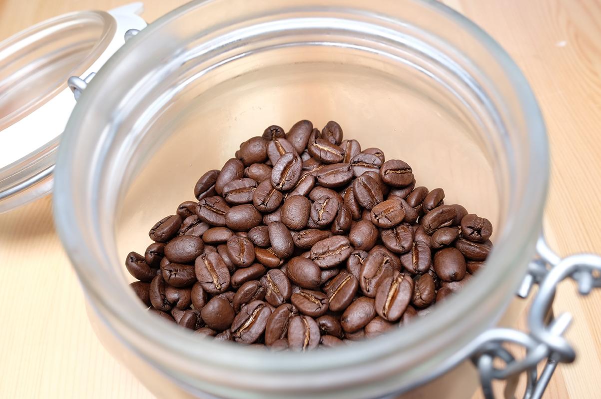 冷蔵庫で保存したコーヒー豆