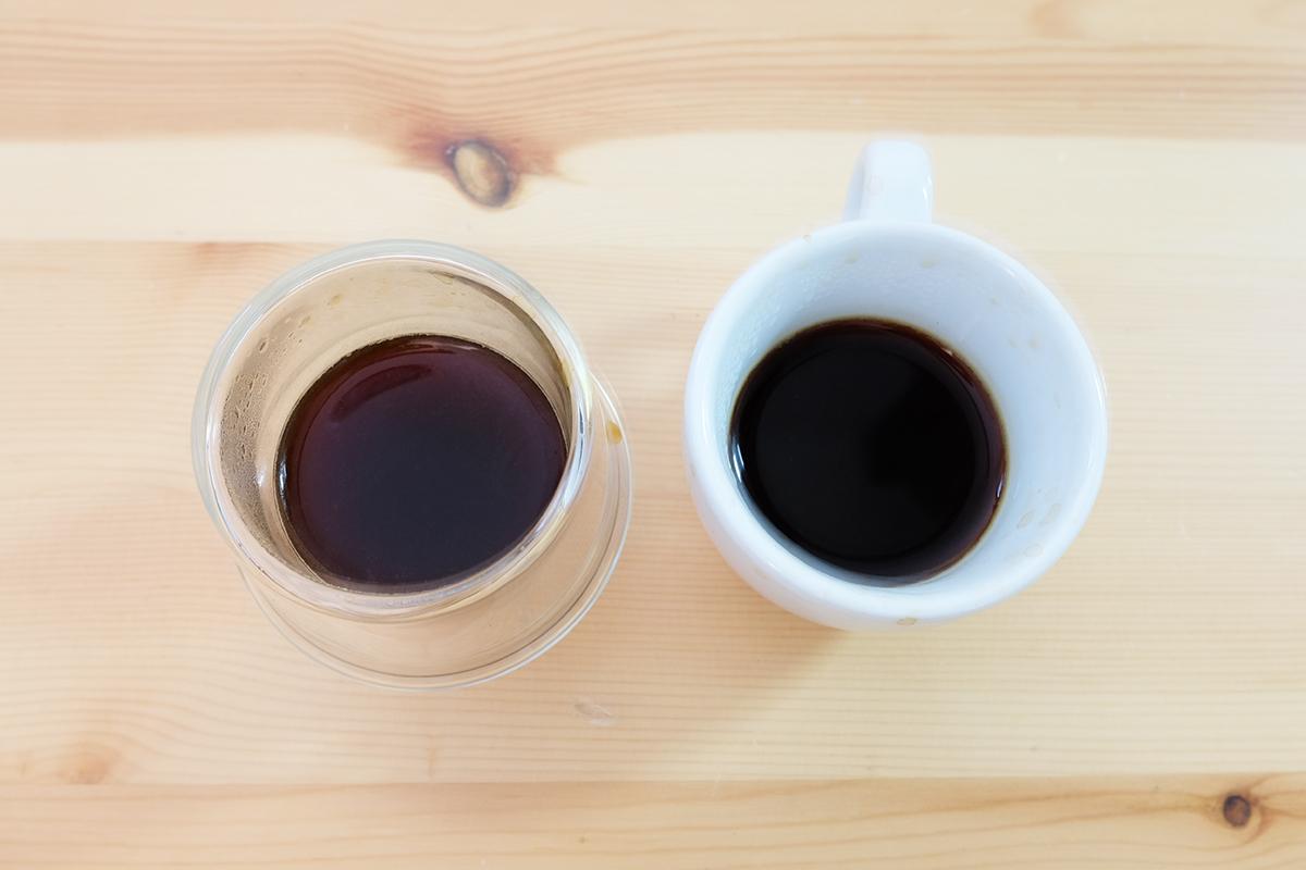 2杯のモカコーヒー