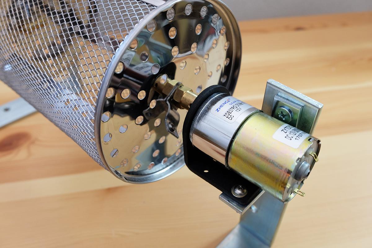 自作コーヒー豆焙煎機 モーター部
