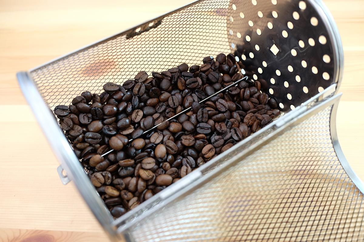 自作コーヒー豆焙煎機で焙煎したコーヒー豆