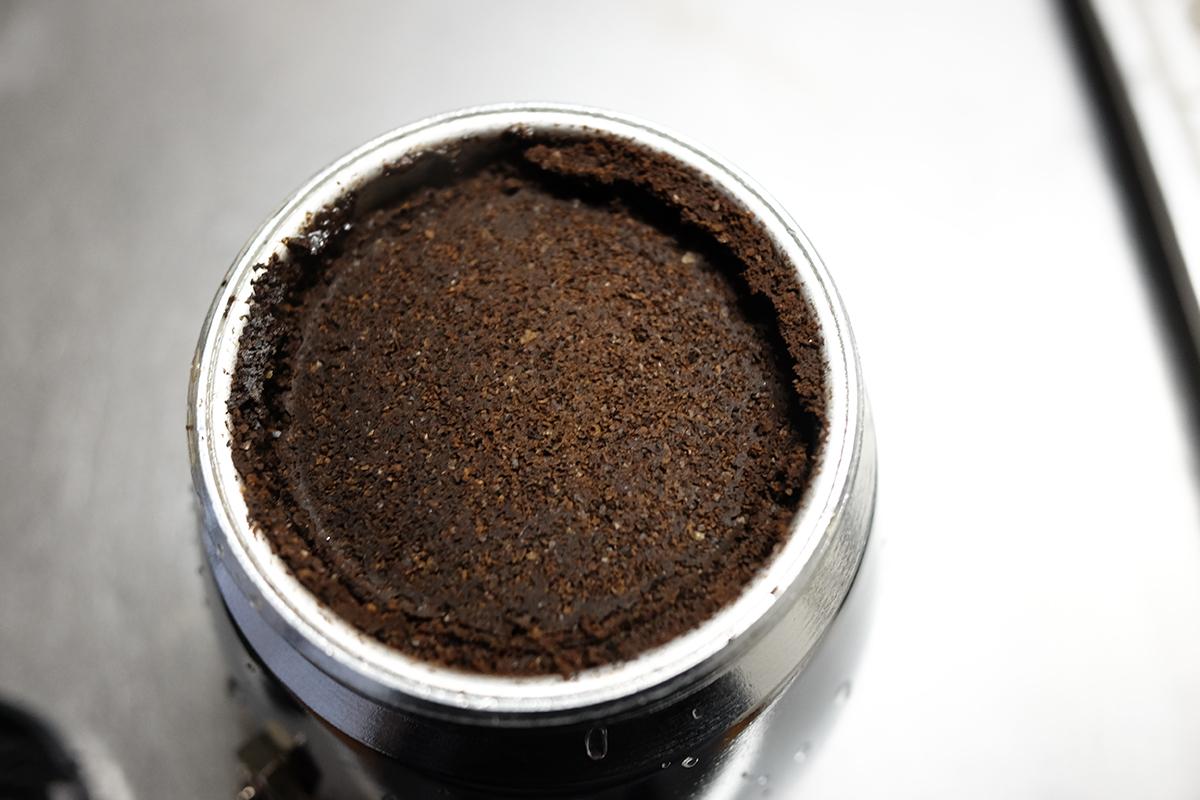 モカコーヒー抽出後のコーヒーカス