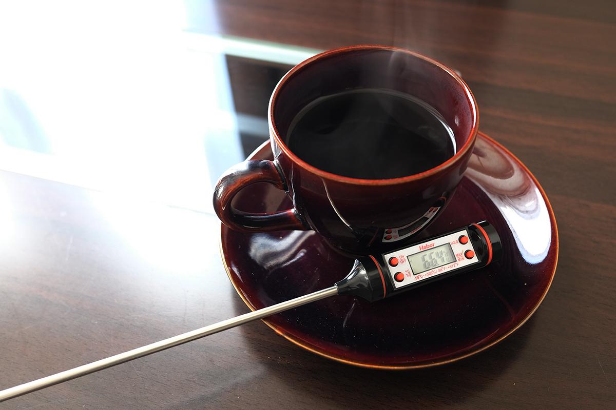 66.4℃のコーヒー