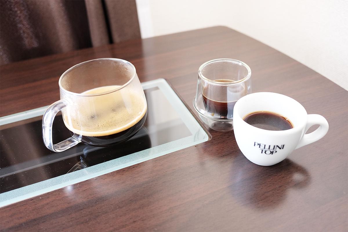 ブリッカとモカエキスプレスで淹れたモカコーヒー