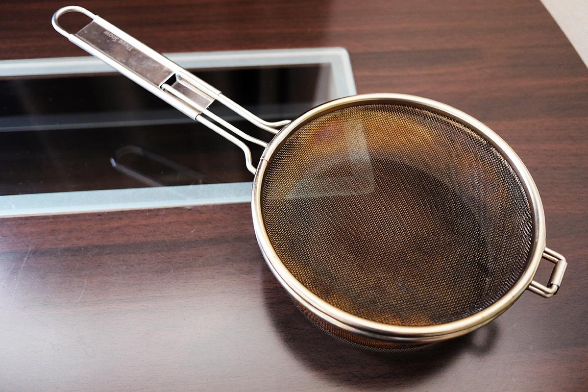 コーヒー豆焙煎用の手網