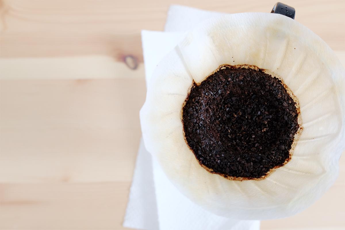コーヒーのカス
