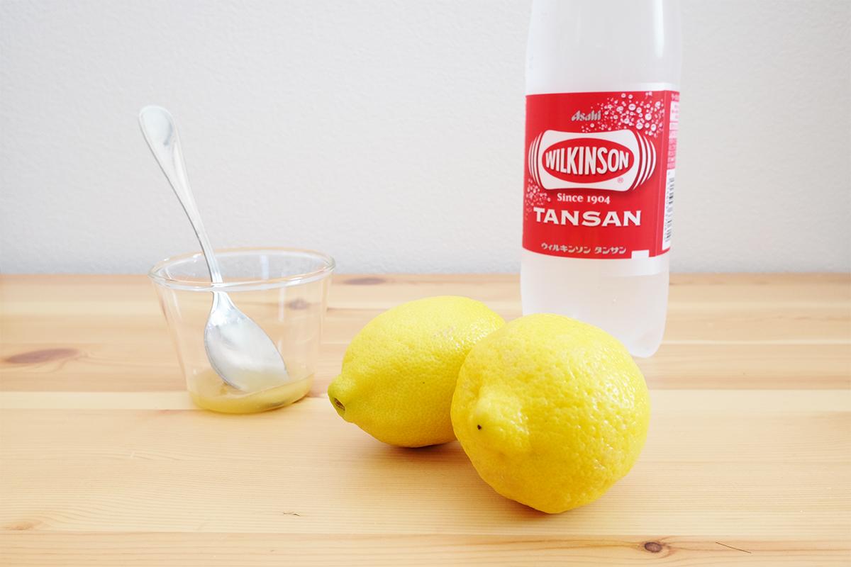 はちみつとレモンと炭酸水