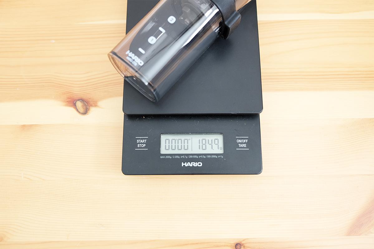 コーヒーミルスマートGの重量
