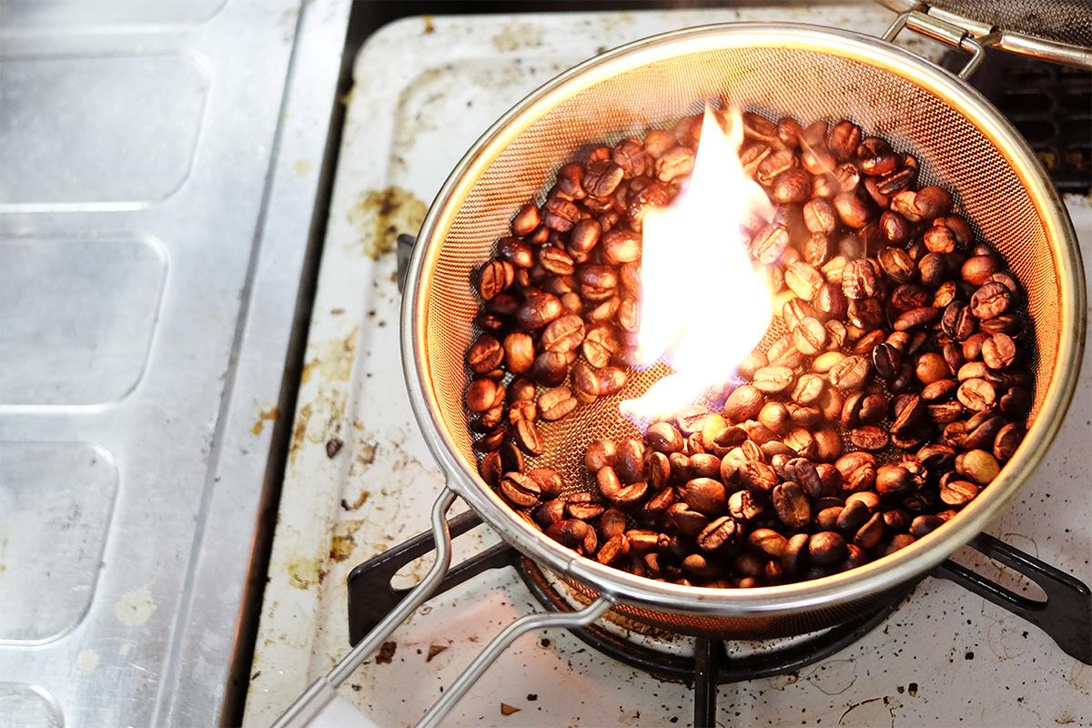 萌えているコーヒー豆