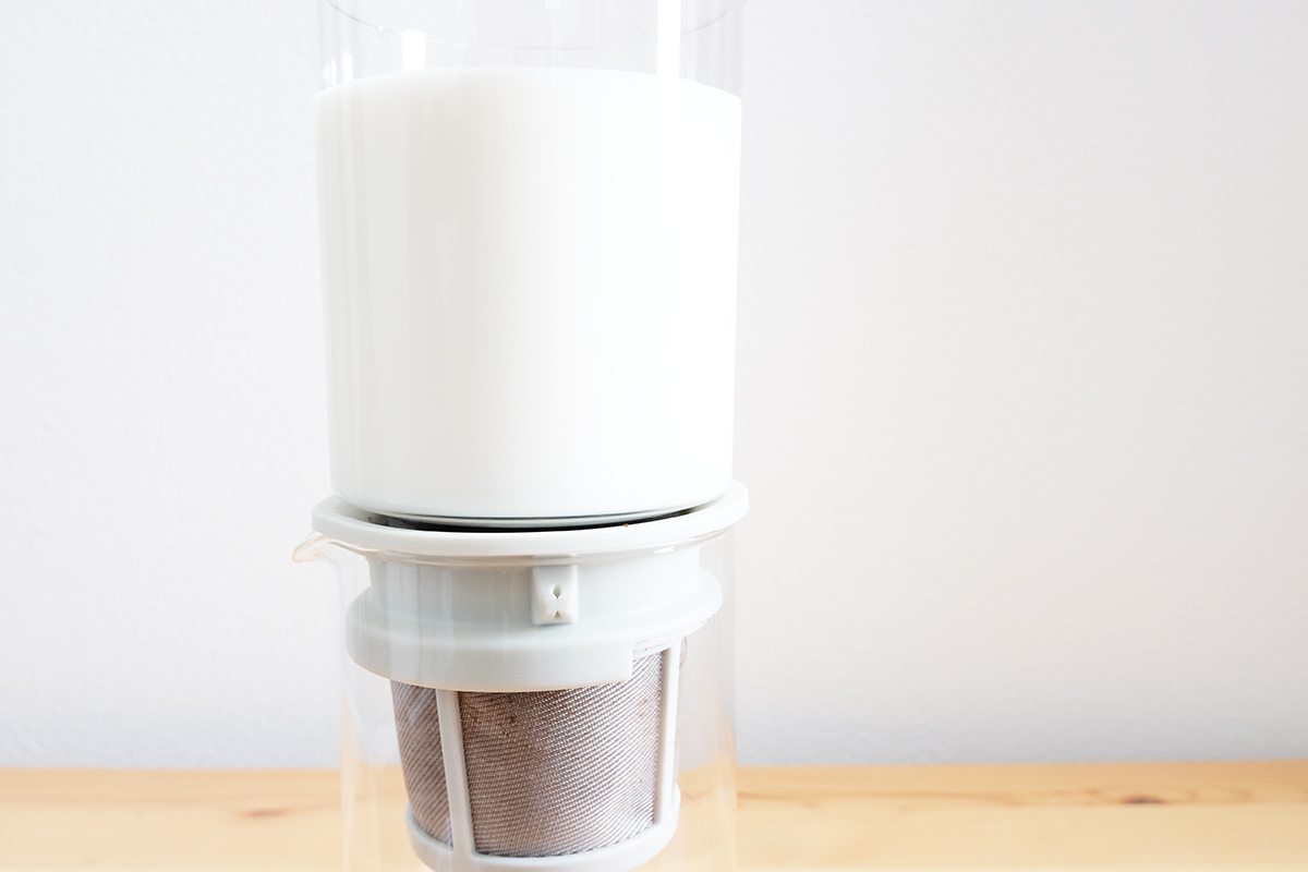 牛乳が注がれたWDD-5-PGR