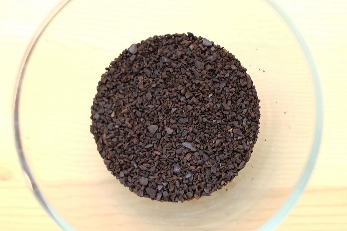 微粉を取り除いたコーヒー粉