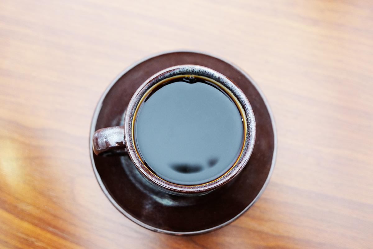 ハンドドリップしたバレルエイジドコーヒー