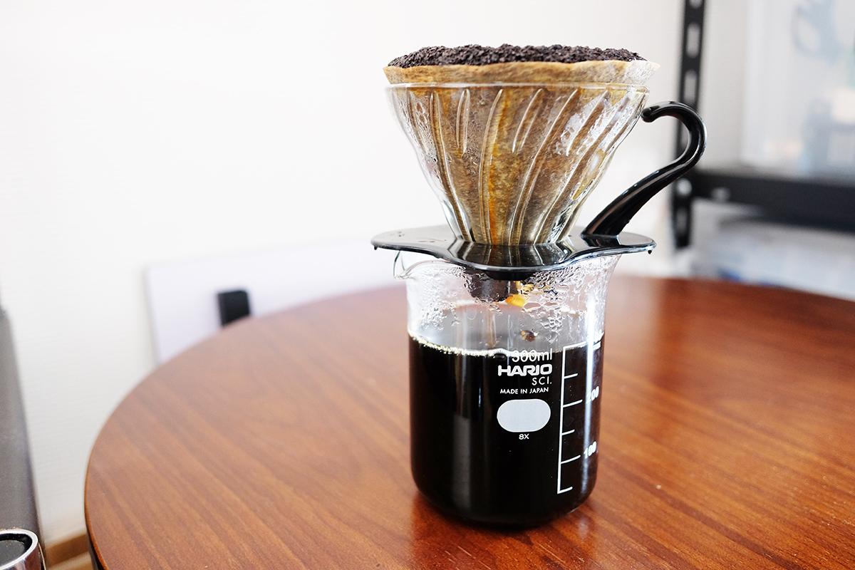 ドリップしたコーヒー