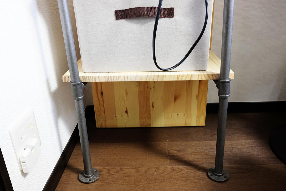 自作コーヒー棚 下段