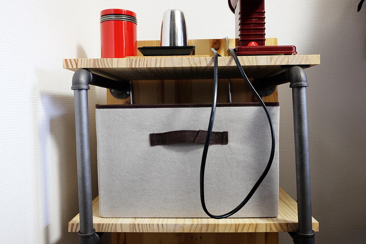 自作コーヒー棚 中段