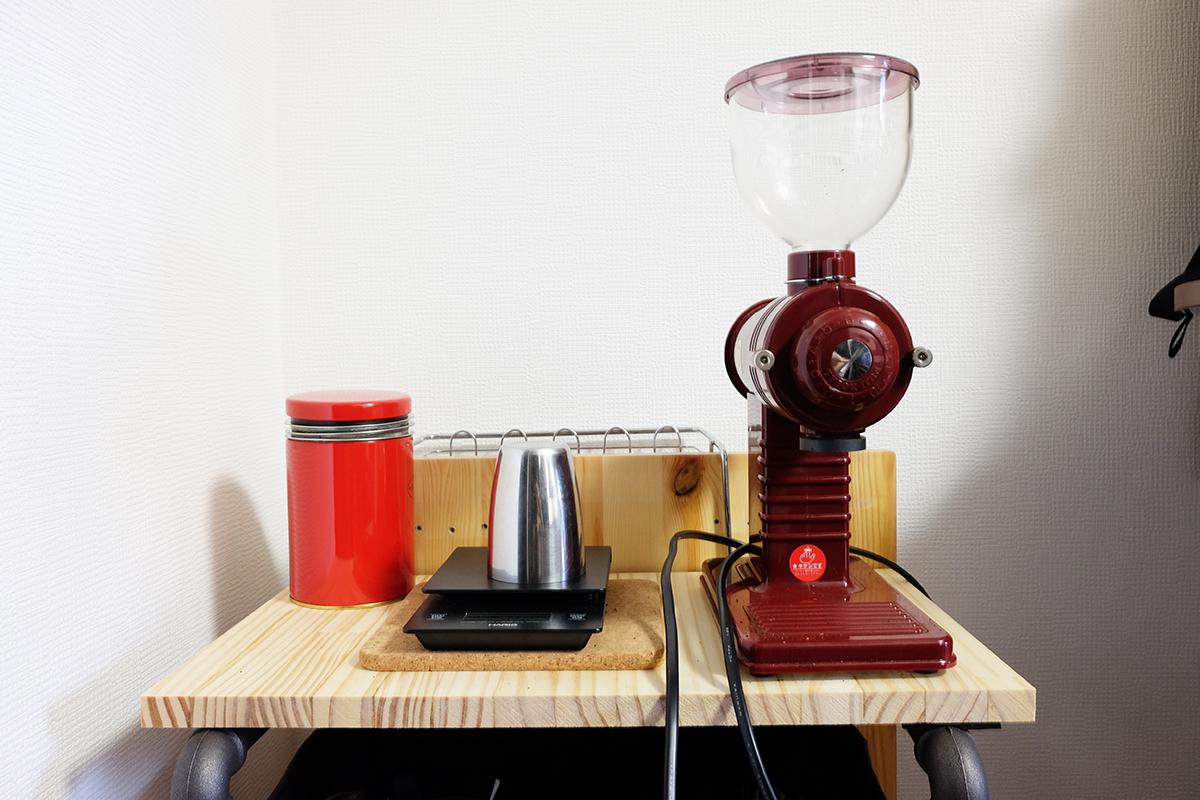 自作コーヒー棚 上段